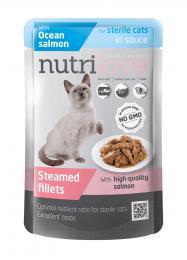NUTRILOVE 85g Ocean Salmon Sterile - dušené filetky s lososem v kapsièce pro kastráty