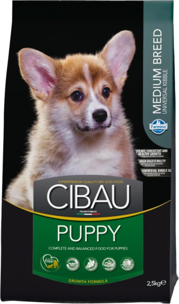 CIBAU Puppy Medium 12 kg + 2 kg ZDARMA